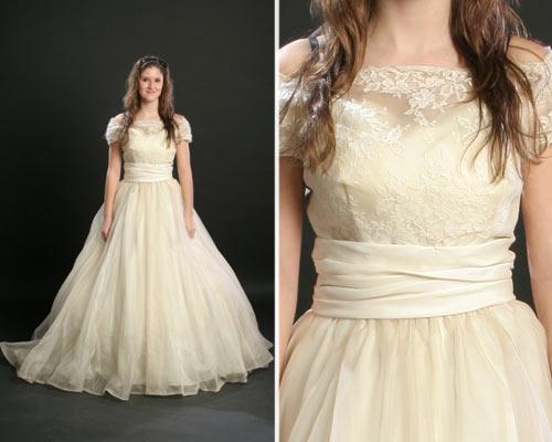 Vestido de casamento vintage simples